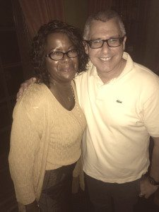 A White Male in his 40s with a Black Woman in her 40s