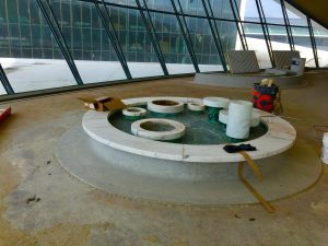 Noguchi Fountain at the TWA Hotel